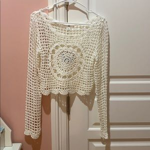 Crochet Long Sleeve Top